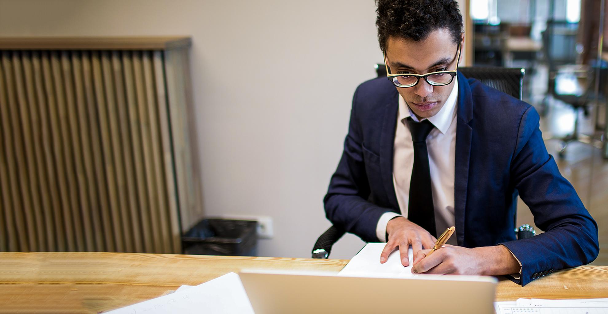 Man focuses on Regulatory Compliance