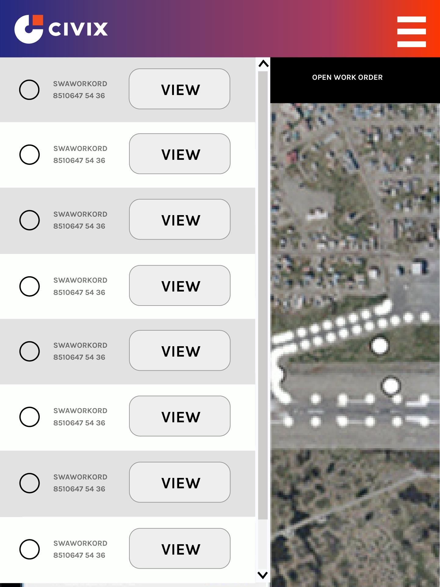 Civix Mobile Inspector Screenshot