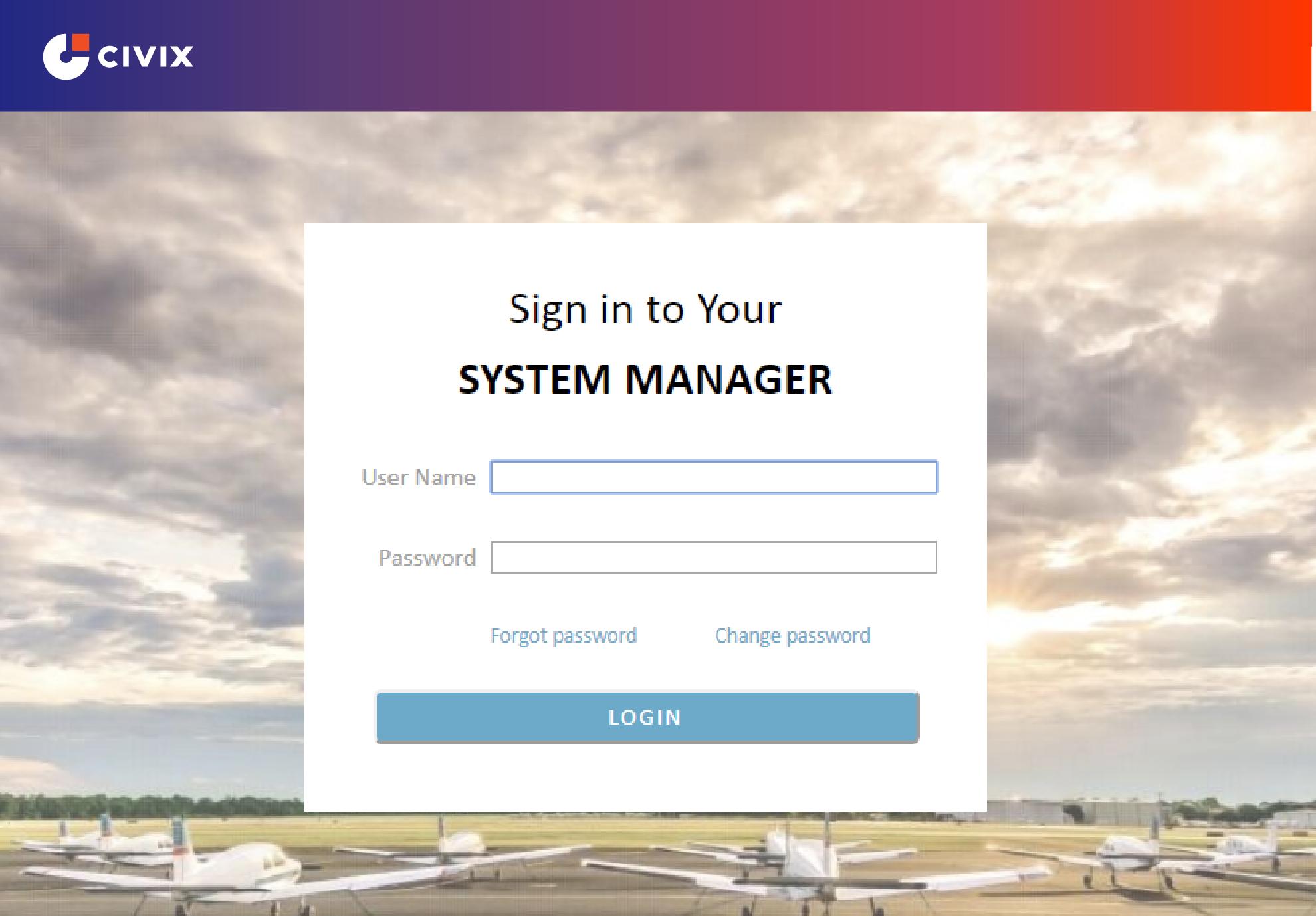 Civix's Aviation System Manager Screenshot